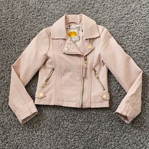 C&C California Faux Leather Jacket Size 4T NWT